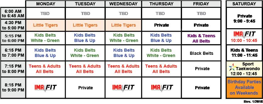IMA-Belleville-Class-Schedule-01-2018