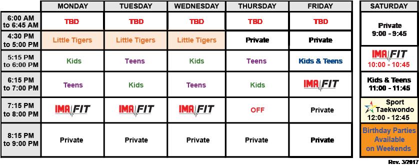 IMA-Belleville-Class-Schedule-03-2017