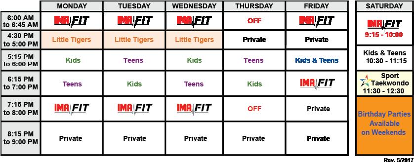 IMA-Randolph-Class-Schedule-05-2017
