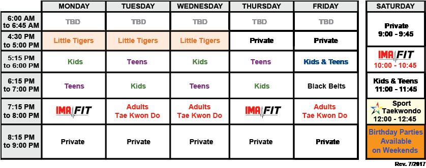IMA-Belleville-Class-Schedule-07-2017