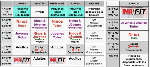 IMA-Bronxh-Class-Schedule